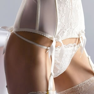 Crystal Bridal Thong