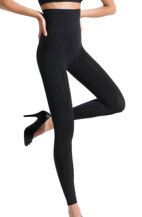 High Waisted Shaping Leggings Black