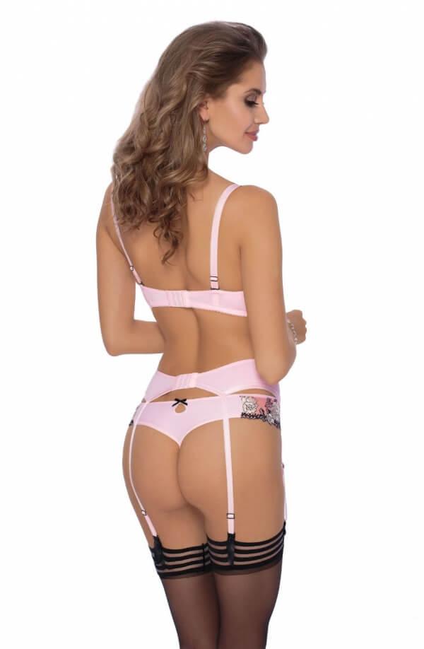 Natali Pink Suspender Belt