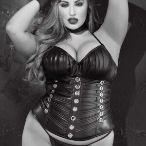 Plus size leather corset
