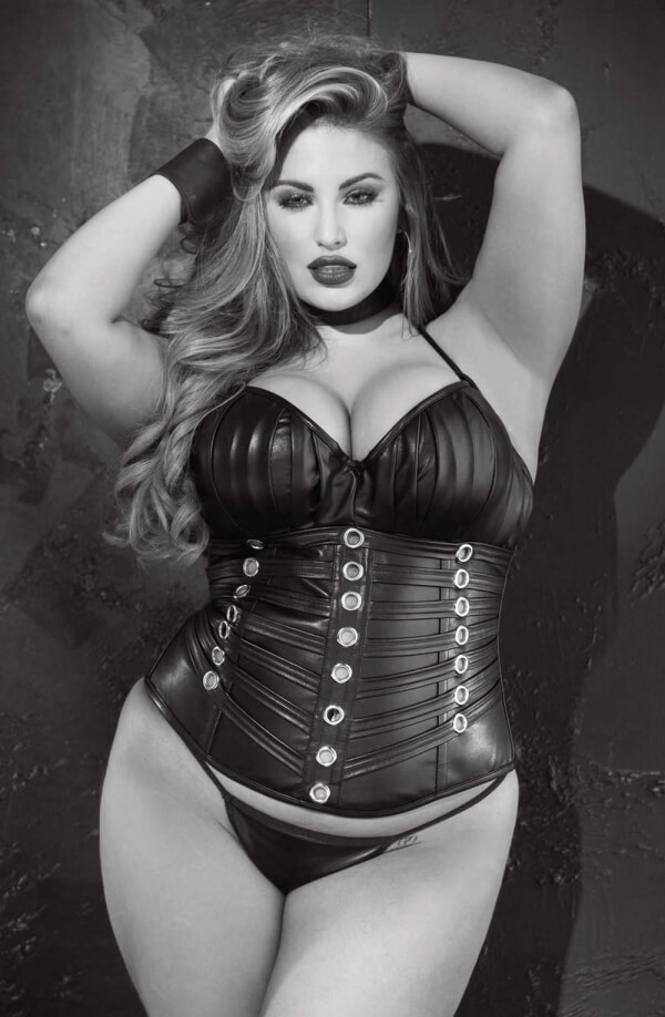 Plus size leather corset