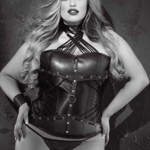 Leather plus size corset