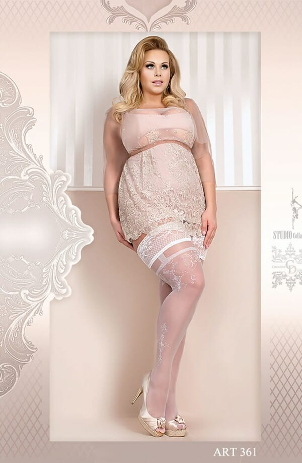 Ballerina 361 White Hold Ups
