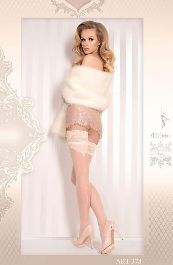 Ballerina 378 Ivory Hold Ups
