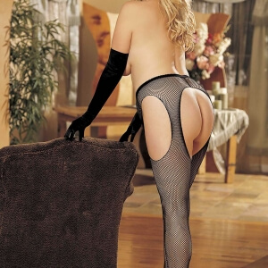 Plus Size Fish Net Suspender Tights