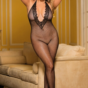 Plus Size fishnet bodystocking