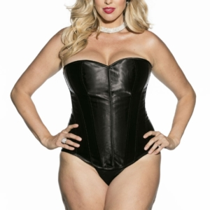 black satin corset