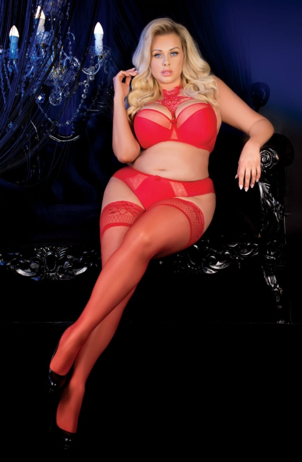 Ballerina 487 Red Plus Size Hold Ups