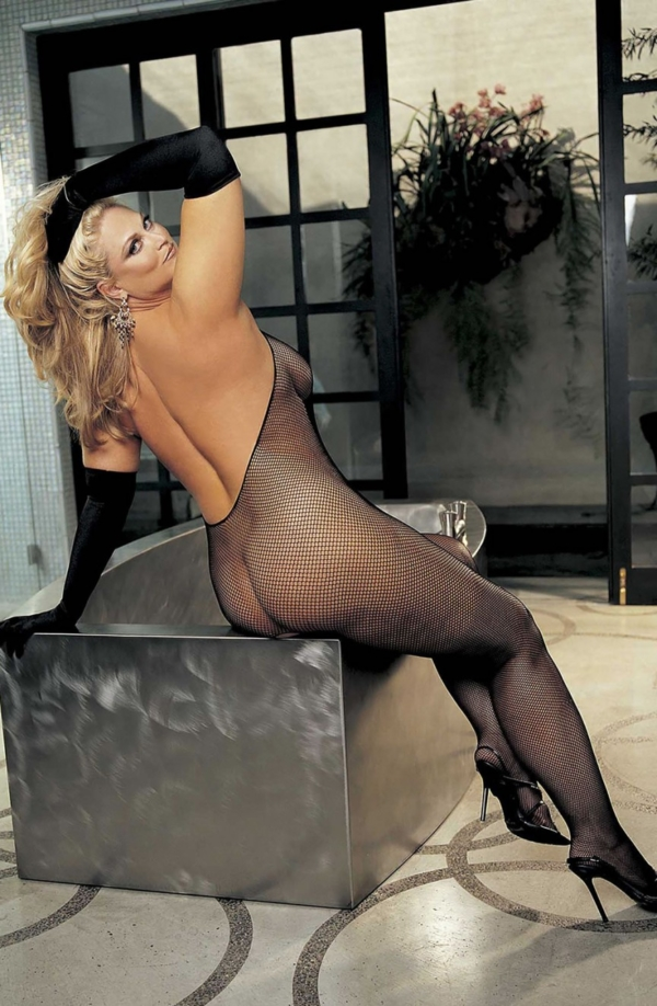 Plus Size Fishnet Bodystocking Black