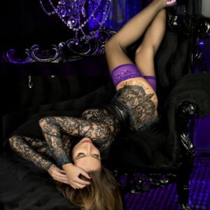 Ballerina 501 Purple Lace Top Hold Ups