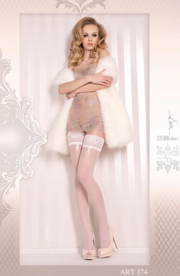 Ballerina 374 Hold Ups Bianco (White)
