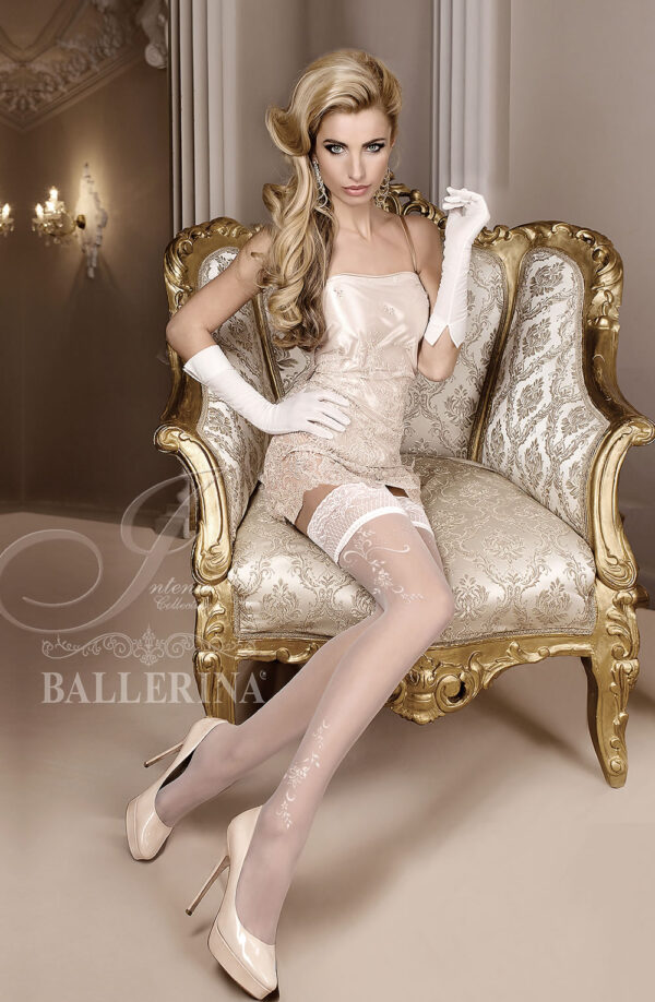 Ballerina 256 Hold Ups Bianco (White)