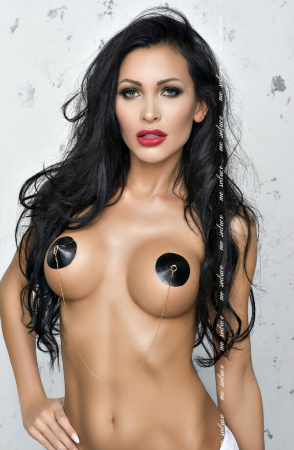Black Faux Leather Nipple Covers