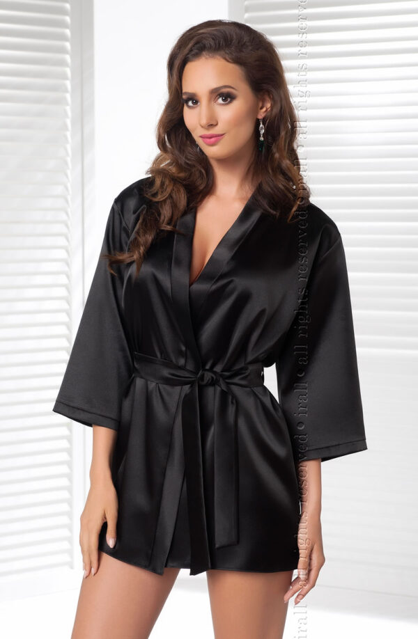 Aria Dressing Gown Black