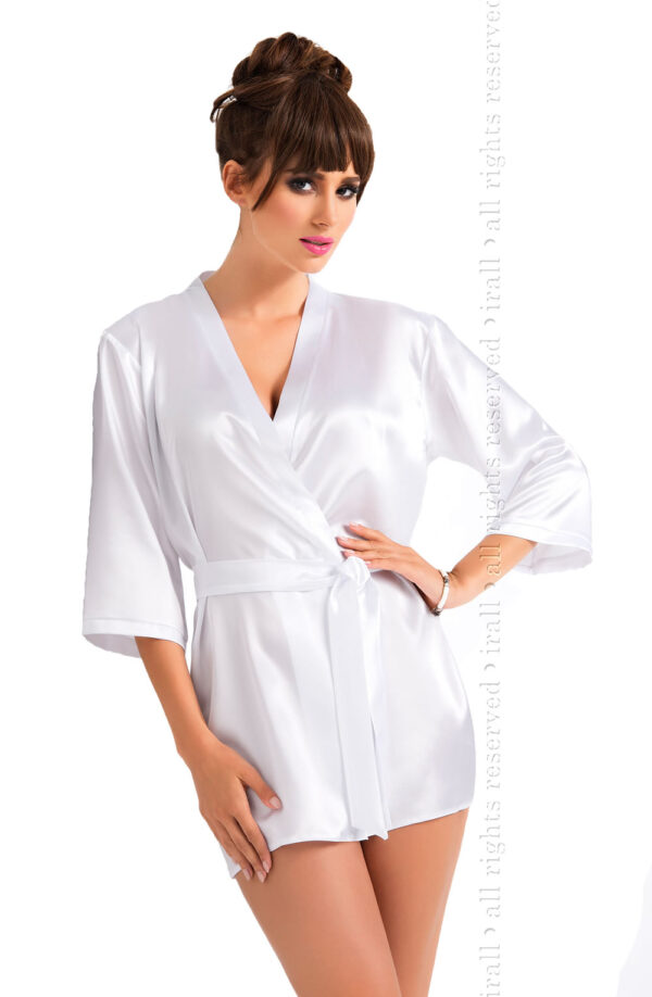 Aria Dressing Gown White