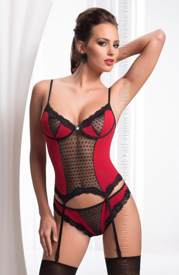 Fiona Corset Black/Red