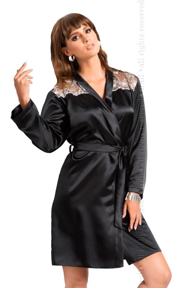 Ida Dressing Gown Black