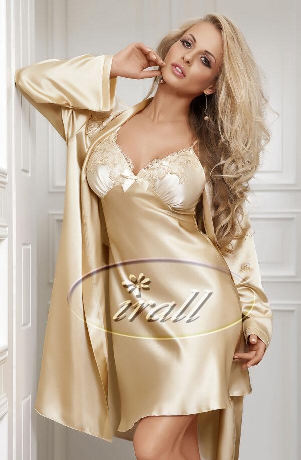 Parisa Dressing Gown Biege