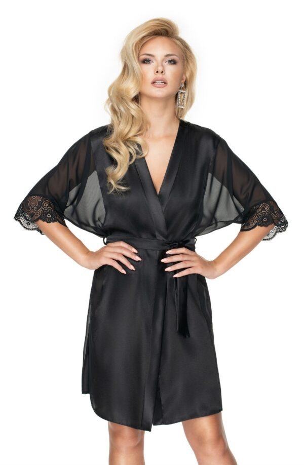 Sharon Dressing Gown Black