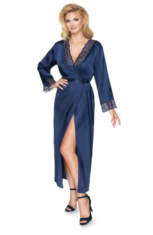 Yoko Dressing Gown Navy Blue