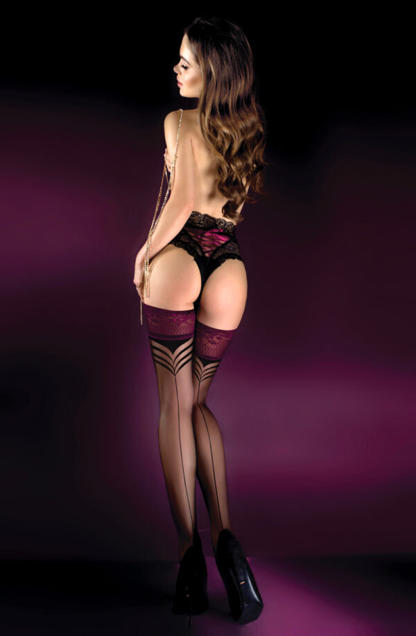 Ballerina 527 Black Hold Ups