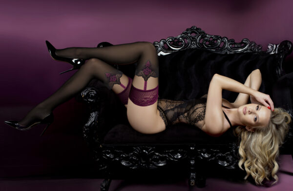 Ballerina 529 Black / Skin Hold Ups