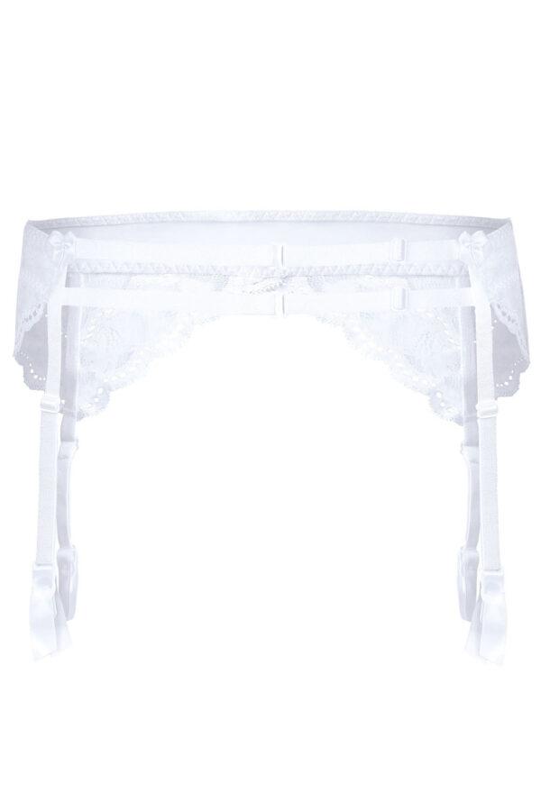 Lagerta Suspender Belt White