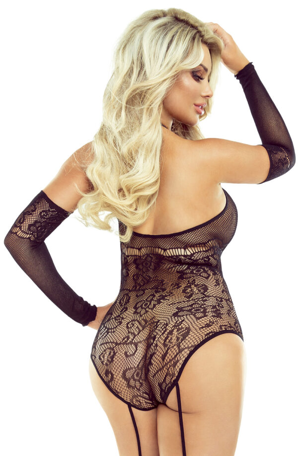 All in One High Neck & Stocking Bodysuit