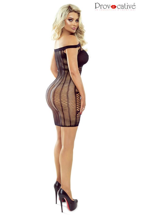 Multi Net Black Bodycon Dress
