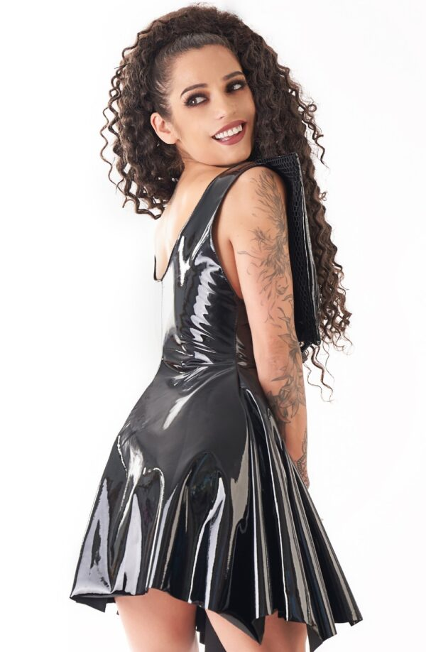 Wet Look Witch Dress