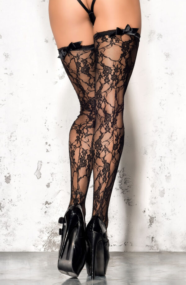 Lace Ribbon Top Stockings